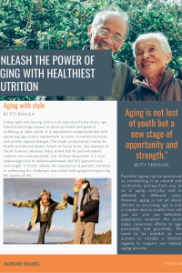 Unleash the Power of Aging with Healthiest Nutrition